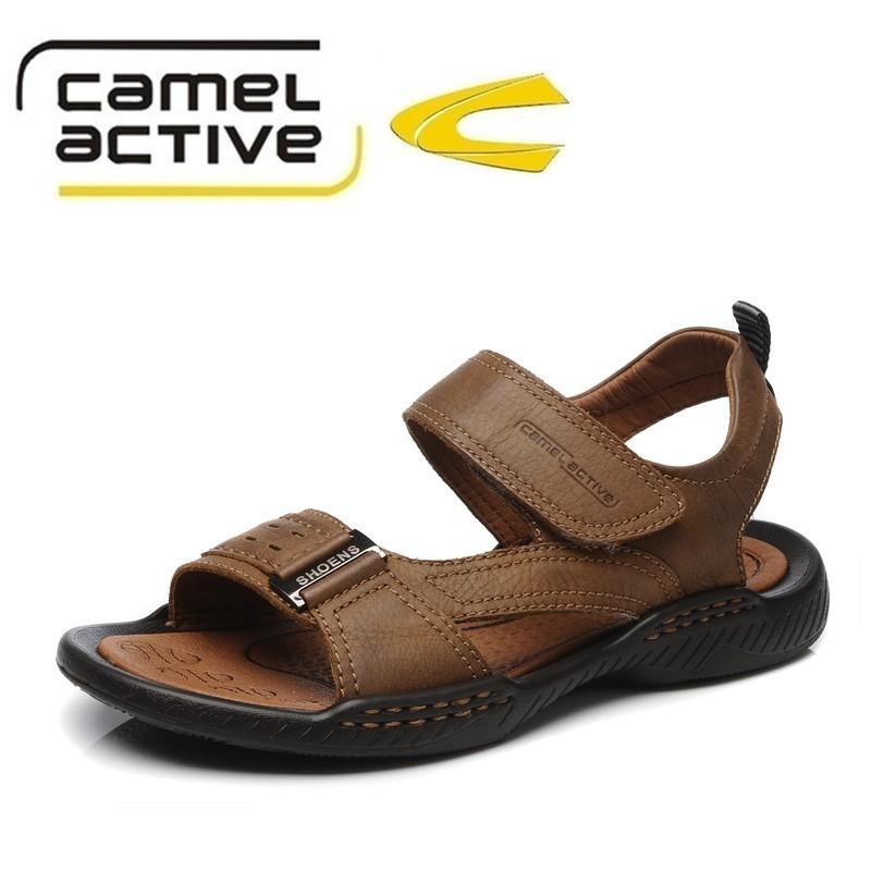 Сандали Camel Active c63606175 Открытый носок Пряжка Кожа быка Лето Сандалии-гладиаторы