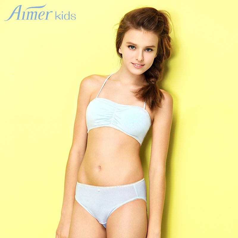 Aimer Kids Aimer Girls Gentle Care Of Children In The Waist Briefs