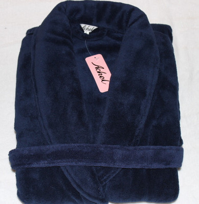2 Jiangsu, Zhejiang Ultrafine thick coral velvet robe bathrobe dark blue men's pajamas favorite fall and winter days