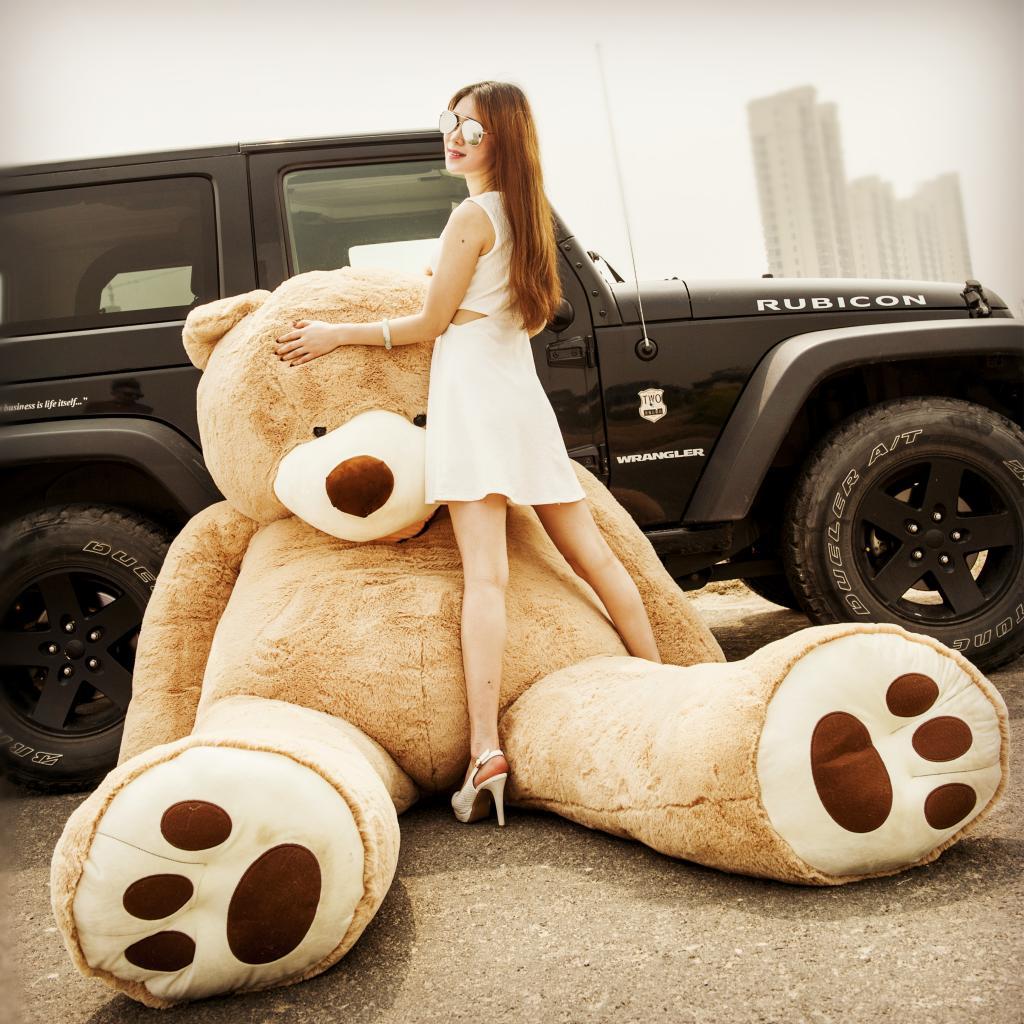 美国大熊超大号毛绒玩具公仔2米泰迪熊1.6抱抱熊狗熊女生生日礼物