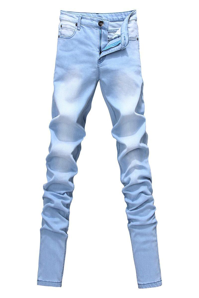 Джинсы мужские AJ A001 2013 Плотно облегающие Классическая джинсовая ткань 2013
