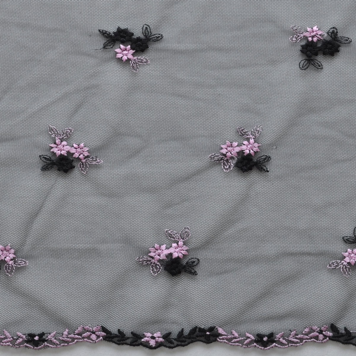 Хлопчатобумажная ткань Европейский стиль черная сетка ткань с вышивкой/этап/Одежда ткани/рука DIY Европейский и американский стиль 1-й розовой полуметра /, 2,1 м / 2 розовый Ткань для одежды