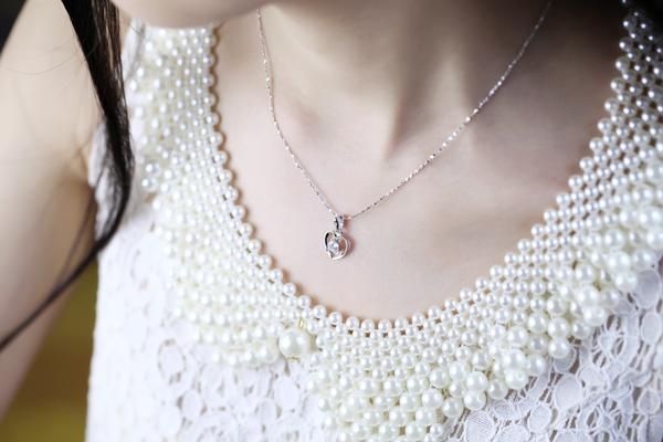 Подвеска Специальные итальянского мастерства моды элегантные простые сердца кулон 925 стерлингового серебра циркония кулон женщин 41500-014