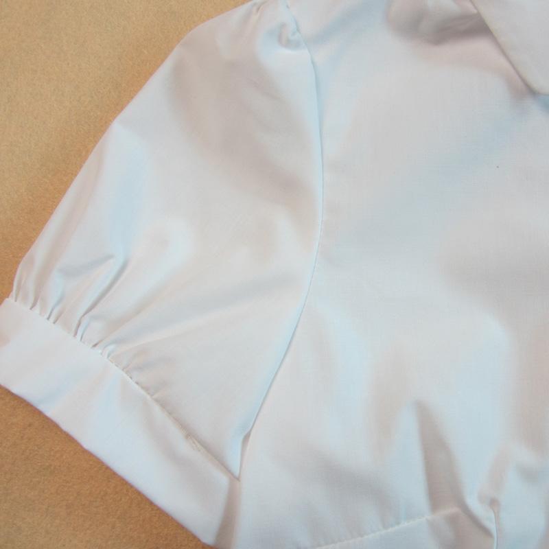 женская рубашка Aonfei c3601 2013 Повседневный Короткий рукав Однотонный цвет 2013 года Отложной воротник Один ряд пуговиц