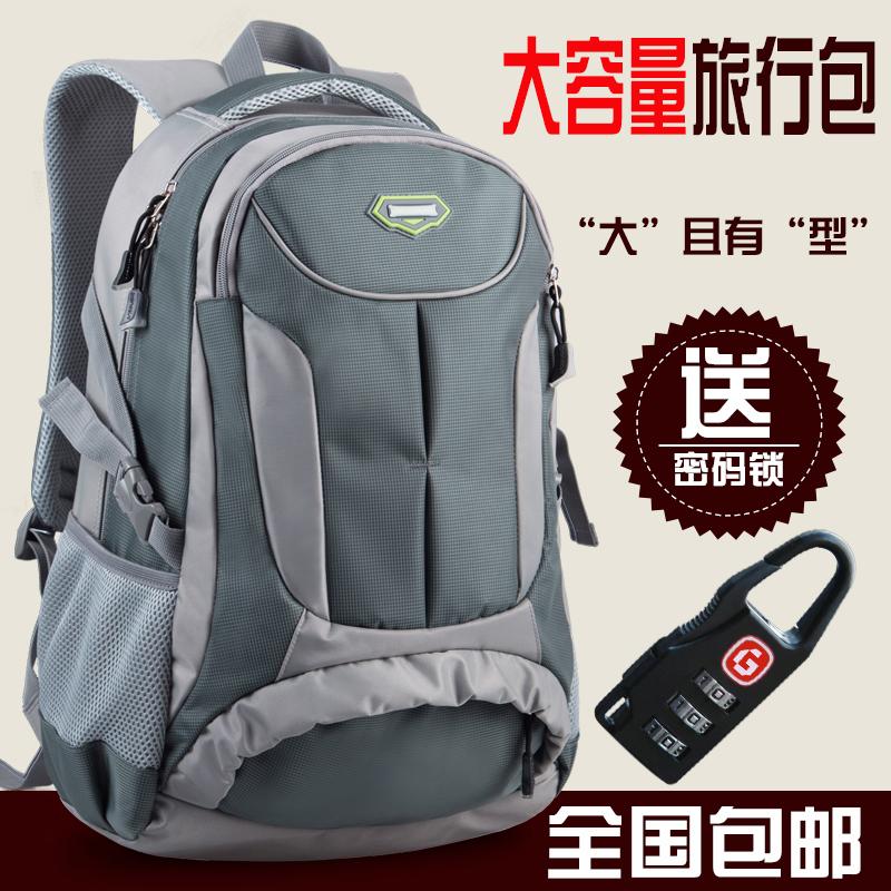 大容量双肩包男防泼水旅游旅行包运动电脑包简约背包女