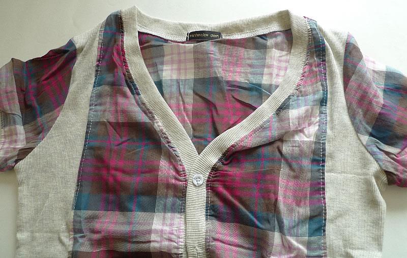 женская рубашка Повседневный стиль Короткий рукав В клетку V-образный вырез