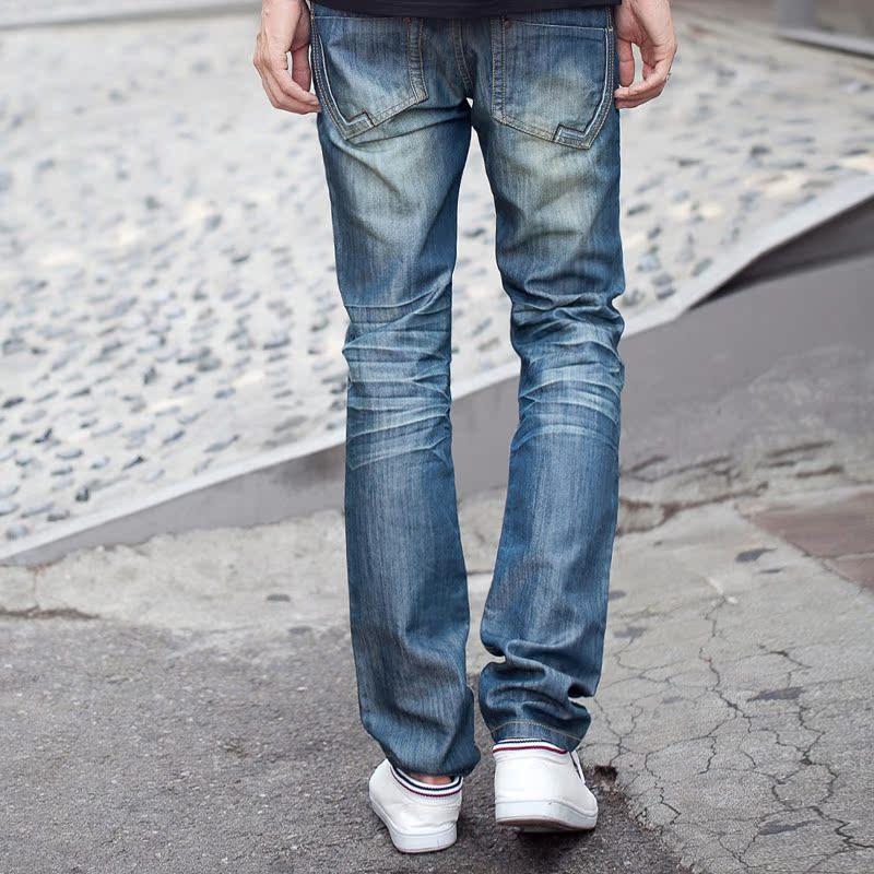 Джинсы мужские Korean homes have clothes oj2142 2013 Облегающий покрой Классическая джинсовая ткань Эксклюзивные корейский и японский стили 2013