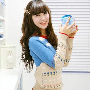 Свитер женский Korean homes have clothes gs0355 2011 Длинный рукав Классический рукав Закругленный вырез