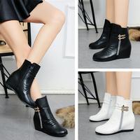 [包邮] 新款内增高中筒靴女靴韩版时尚潮流