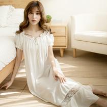 长裙公主学生睡裙女夏季长款性感少女韩版睡衣短袖夏天连衣裙清新