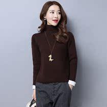 华哥弟情正品女式毛衣 冬款修身纯色高领羊毛衫短款针织打底衫