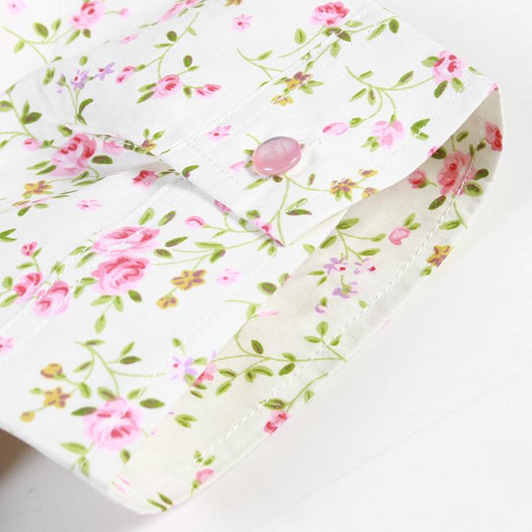 женская рубашка MAX MID mm1002 MAXMID 2013 Tw Городской стиль Короткий рукав Рисунок в цветочек 2013 года Бантик бабочкой Квадратный воротник Один ряд пуговиц