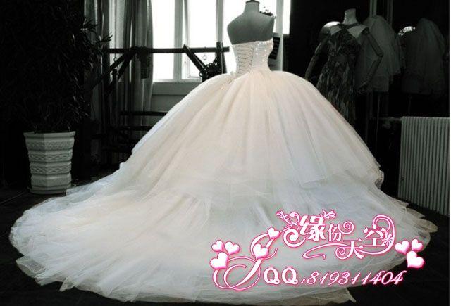 Свадебное платье Fate sky Sky 0801 0801 Другие материалы Длинный шлейф
