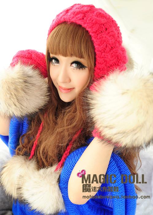 Головной убор Spell dolls 20120919 Вязаные/трикотажные шапки Комбинированное волокно - натуральная шерсть и синтетика Женское Зима