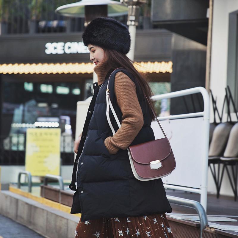 C小小 2016冬装新款韩版宽松面包服棉衣马甲外套加厚棉服中长款女