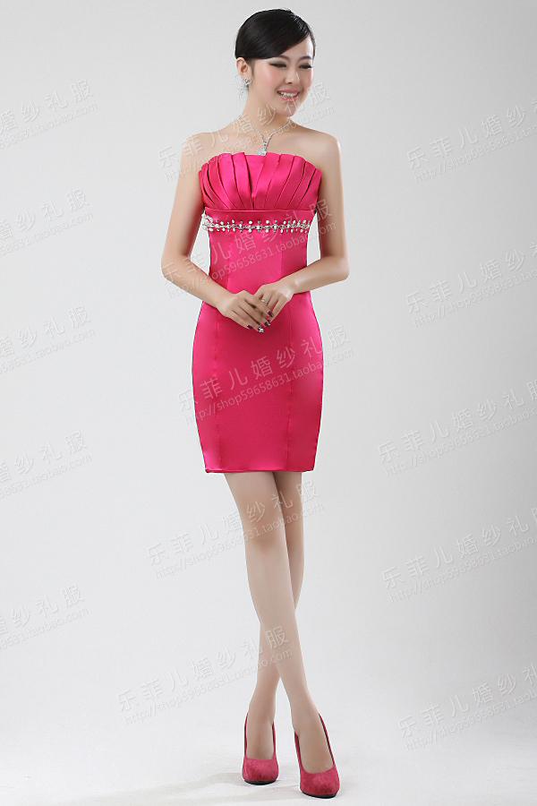 Вечернее платье Специальное предложение пакет хип тонкая трубка топ платья невеста тост одежды вечерние платья, костюмы обычно может также быть носить 2012 Средней длины (76-90см)