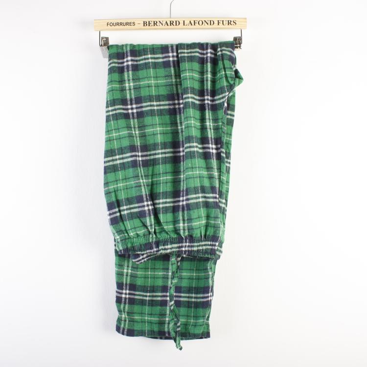 Пижамные штаны Export Муж. Полубархат Хлопок В клетку Простой (повседневный) стиль Осень
