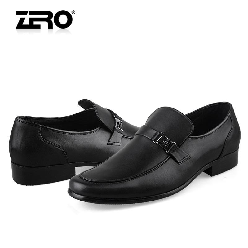 Демисезонные ботинки Zero f9677 Официальные Верхний слой из натуральной кожи Круглый носок Резинка Зима