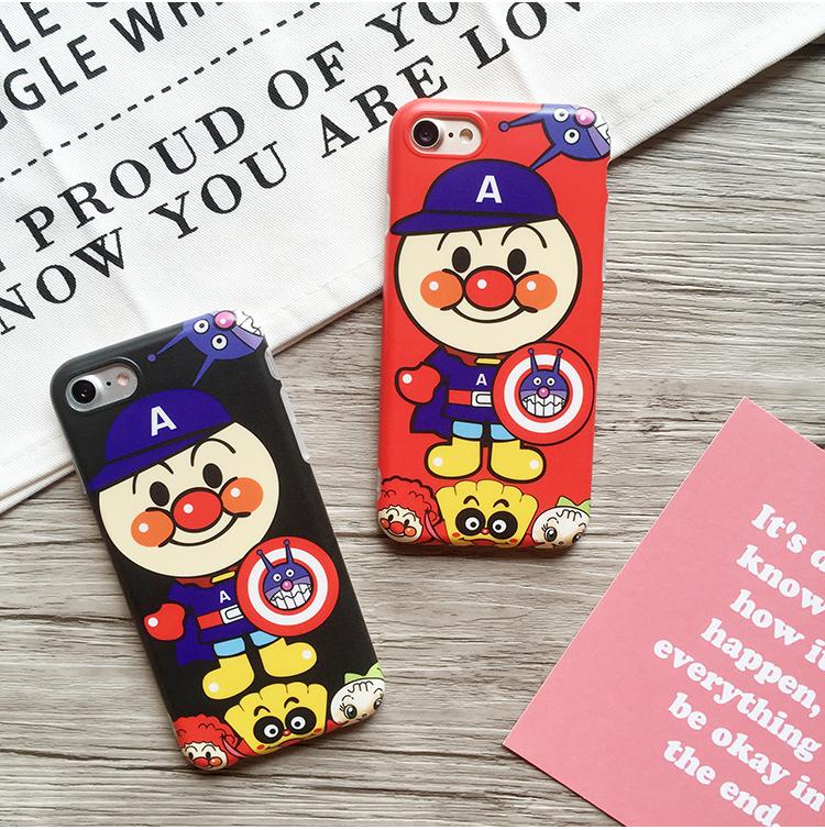 韩国新款面包超人iPhone7手机壳苹果6s plus情侣软壳防摔软壳潮