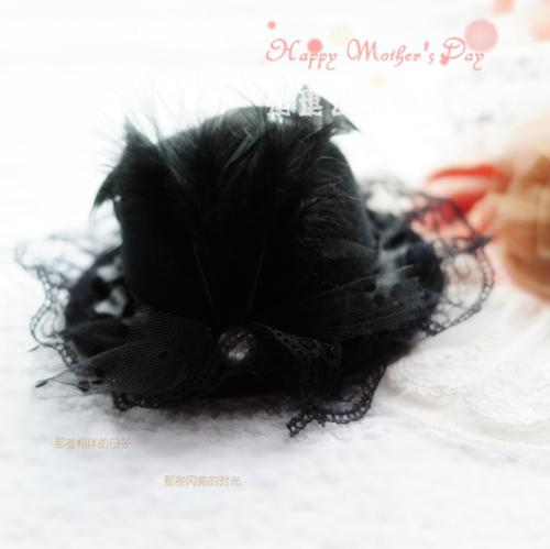 Цвет: Черная жемчужина кружева перья 1