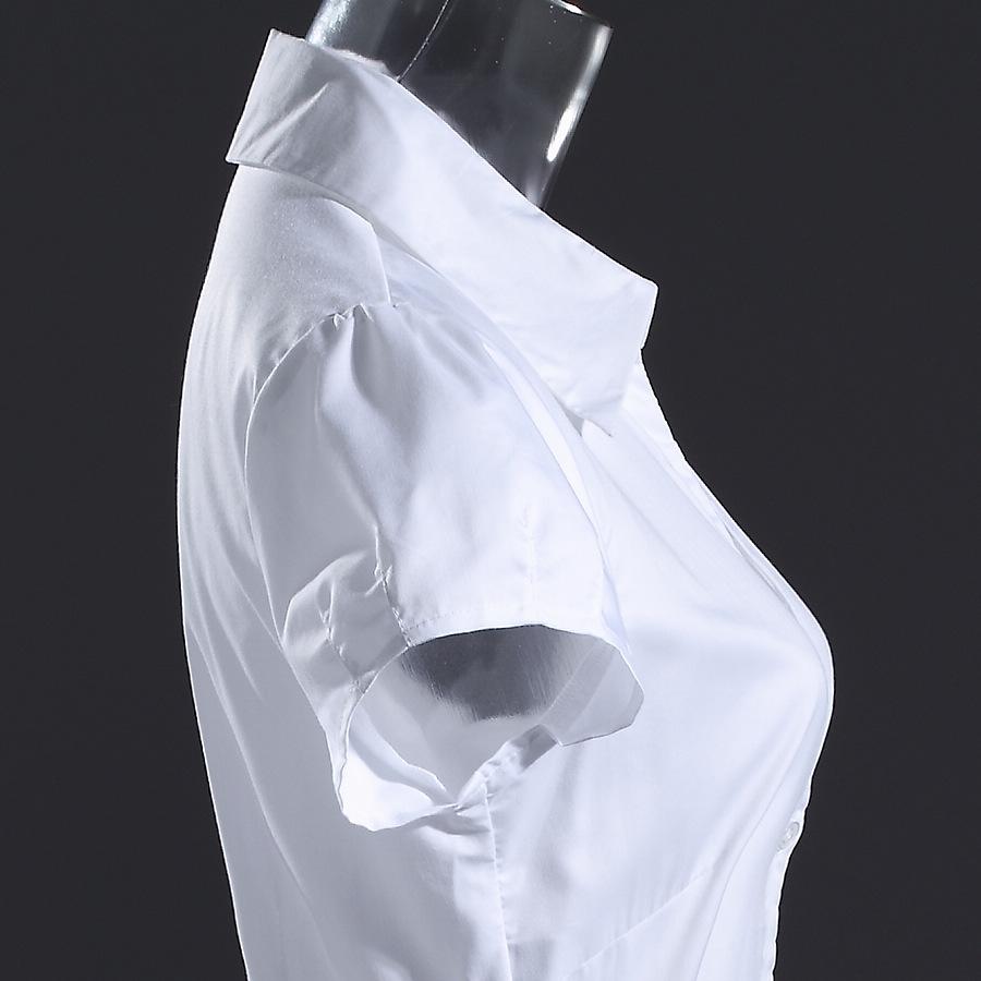 женская рубашка Тим шеи гильзы Весна 2014 OL пригородных тонкий v шеи белая рубашка профессиональный короткие цельный рубашка женщины дамы