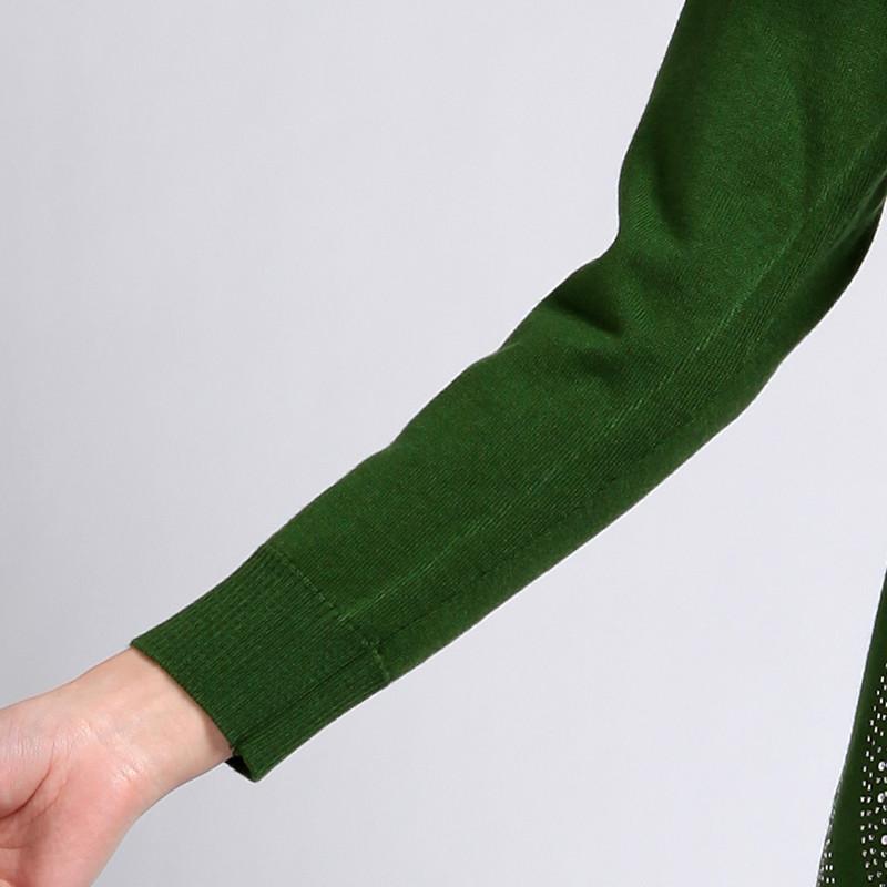 Свитер женский Ge 11 2013 Тонкая овечья шерсть Длинный рукав Классический рукав Закругленный вырез