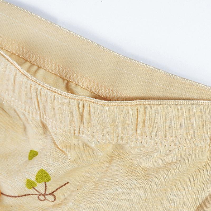 Трусы Colored cotton NK Девушки Полиэстер Плавки Хлопковая ткань Бутоньерки Бесшовный, цельный Простота и естественность