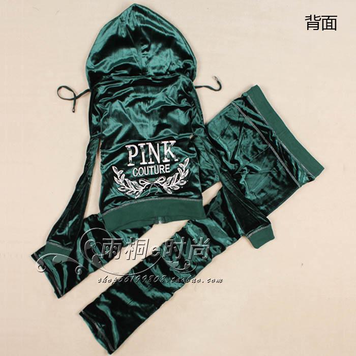 Вышитые алмаз плюс размер Золотой бархат велюр пота костюмы женщинам весной и осенью свитер непринужденная спортивная одежда Корейская волна
