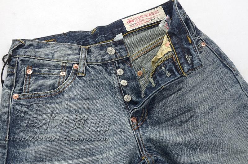 Джинсы мужские Evisu e6035 Классическая джинсовая ткань 2013