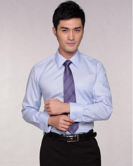 G2000 Elegant Pointed Collar Slim Long-sleeved Business Men Shirt