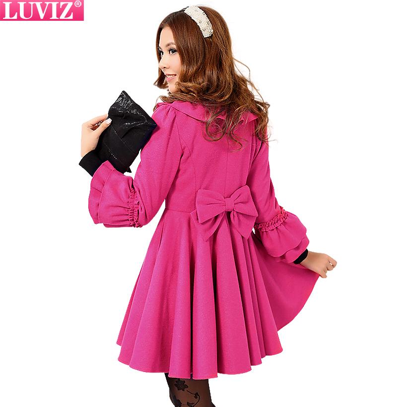 женское пальто Luviz 18042 2013 8042 Зима 2012 Длинная модель (80 см<длина изделия ≤ 100 см) Luviz Рукав 3/4 Рукав-волан