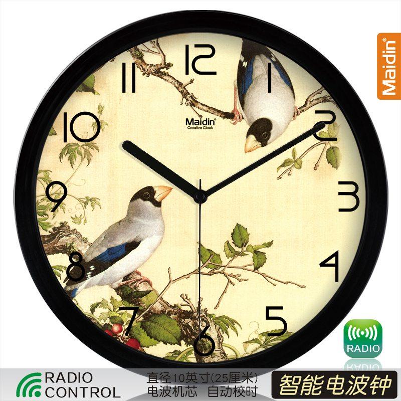 Цвет: 10 радио контролируемые часы черный-495