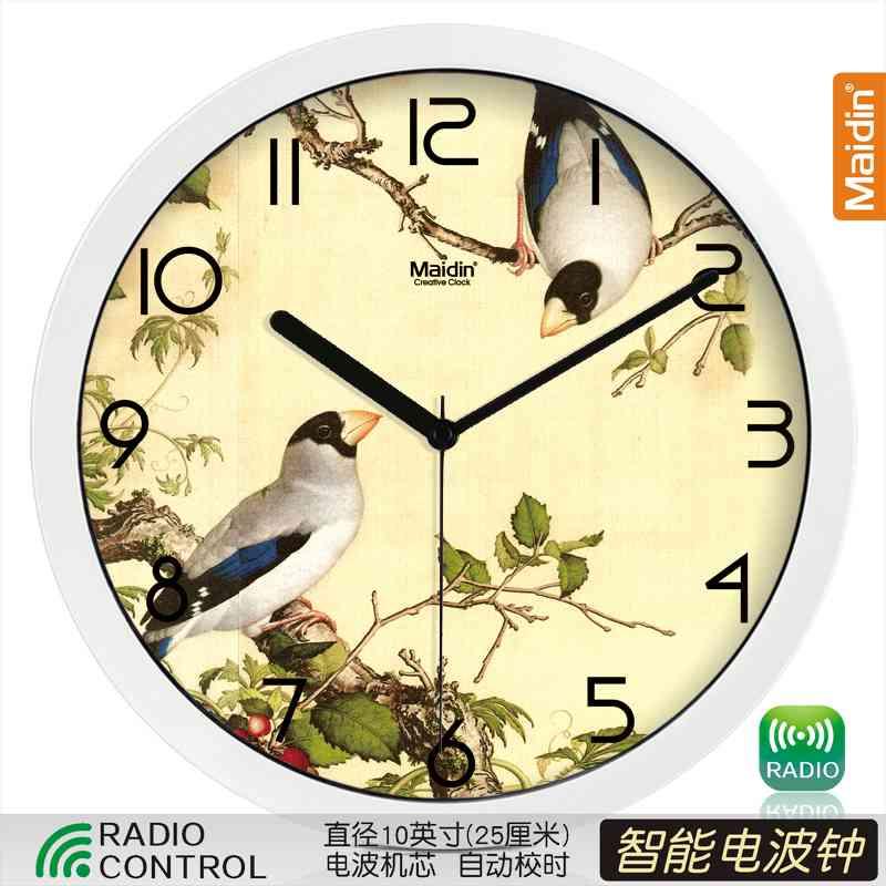 Цвет: 10 радио контролируемые часы белый-495