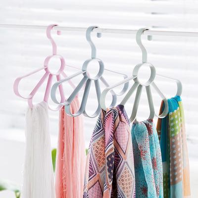 居家家 圈圈围巾架腰带收纳挂架领带架 围巾架子衣架收纳架丝巾架