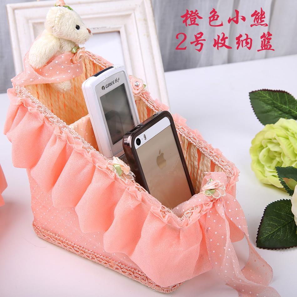 Цвет: Корзина 2 хранения оранжевый Мишка