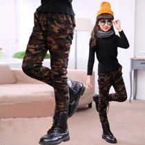 女童迷彩裤春秋装2016长裤中大童纯棉休闲裤儿童装裤子女孩小脚裤