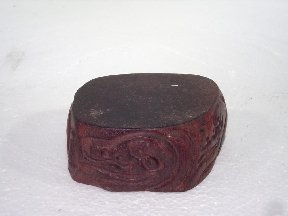 резные аксессуары Розовое дерево натуральное розовое \ фиолетовый песок чай Пот Кубок wenwan резьба по дереву орех Джейд пьедестал древесины горшок лотка
