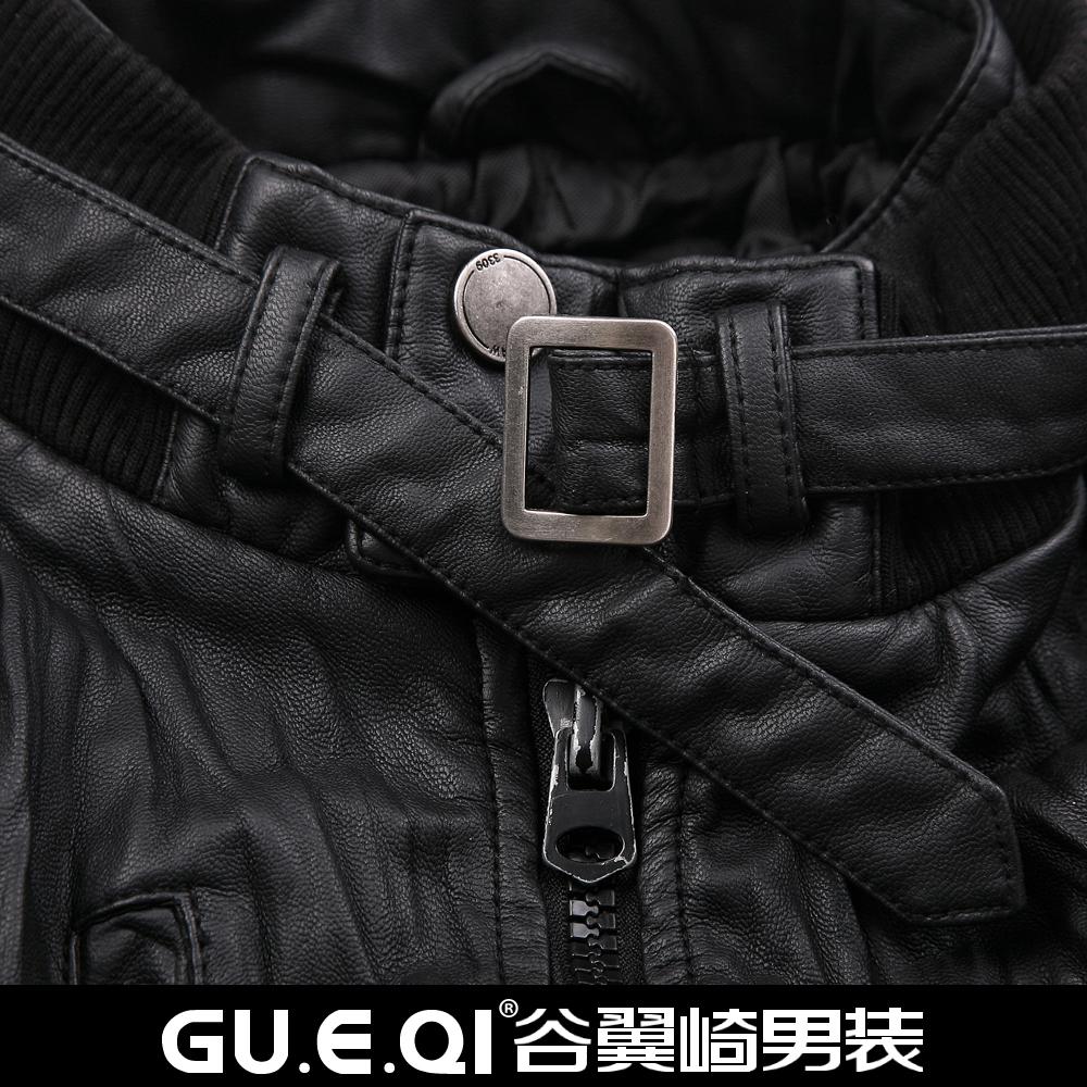 Одежда из кожи Gu wing Kawasaki 11ns10209 2013 Одежда из натуральной кожи Шевро Зимняя Воротник-стойка
