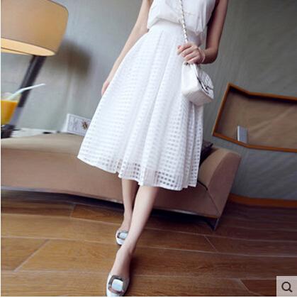 Бесплатная доставка 2015 году летнее платье юбки белых студентов в пачки из органзы юбка платье Весна/лето мешок почта