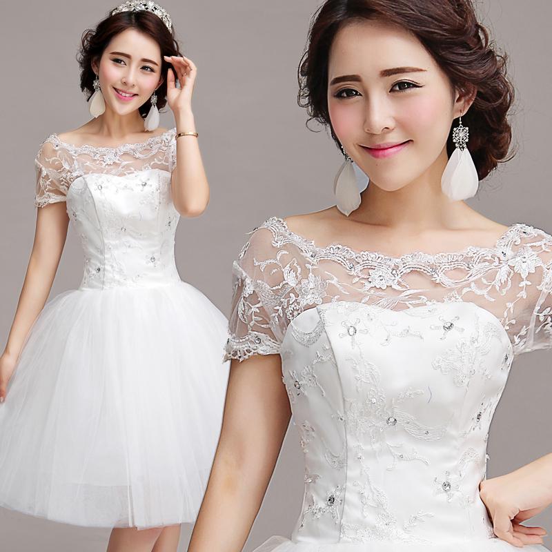 Свадебное платье Princess tribe 126 Осень 2013 Кружево Мини Корейский
