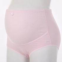 新品高腰款孕妇托腹内裤新款树皮皱皱孕妇全棉内裤腰部可调节纯棉