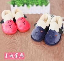 卡通绵羊儿童棉拖鞋宝宝棉鞋保暖防滑冬季男童女童全包跟厚底可爱