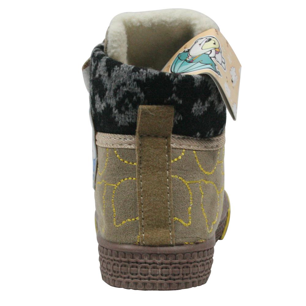 库存尾货 数码熊童鞋正品 低筒保暖魔术贴绒面短靴 男童女童偏小