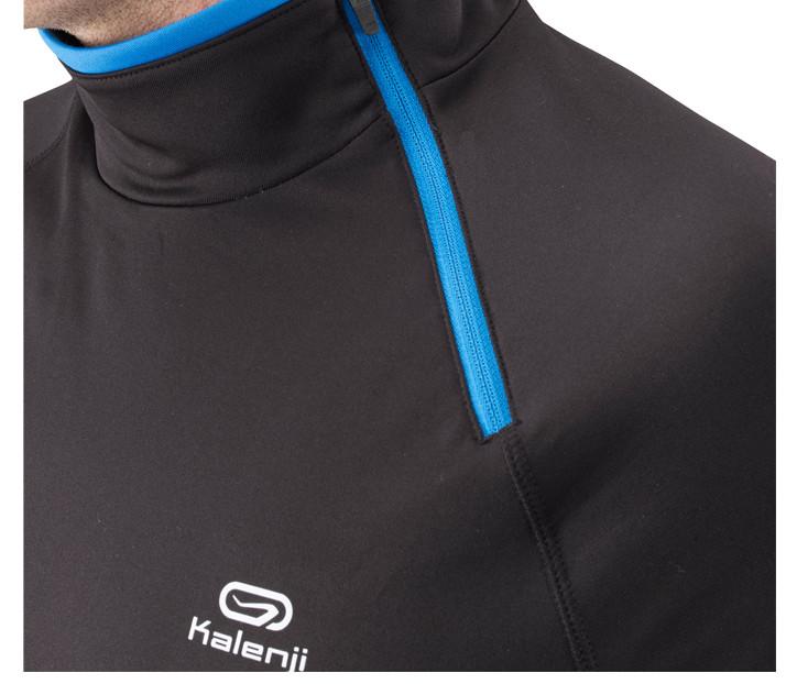 Спортивная футболка Decathlon 8221603 Стандартный Воротник-стойка Длинные рукава (рукава ≧ 58см) Полиэстер Бег Воздухопроницаемые, Ультралегкие, Быстросохнущие, Влагопоглощающие, Светоотражающая Логотип бренда