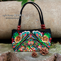 Folk style double-sided embroidery handbag / debris bag 2014 new folk style embroidery embroidered bag