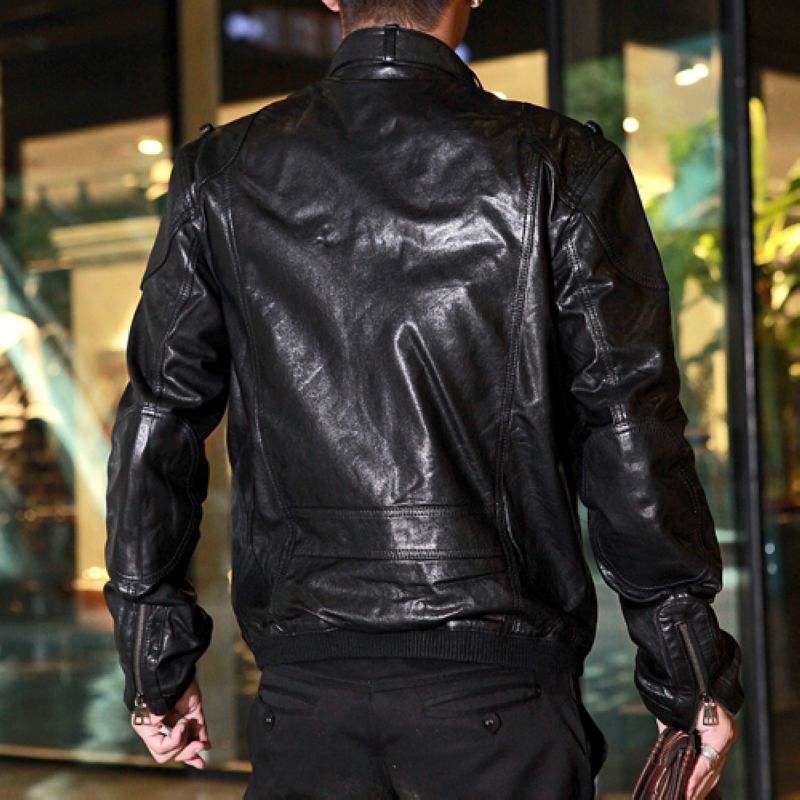 Одежда из кожи Haze lv1710a Одежда из натуральной кожи Овечья кожа Зимняя Воротник-стойка Модная одежда для отдыха