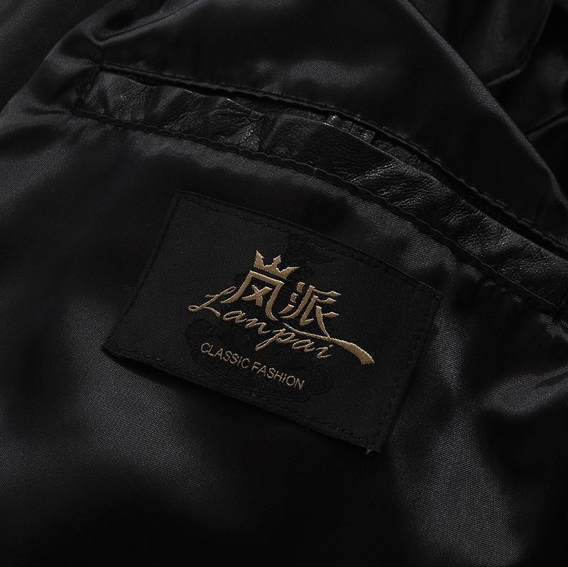 Одежда из кожи Haze l005a Одежда из натуральной кожи Овечья кожа Зимняя Съёмный капюшон Деловой стиль