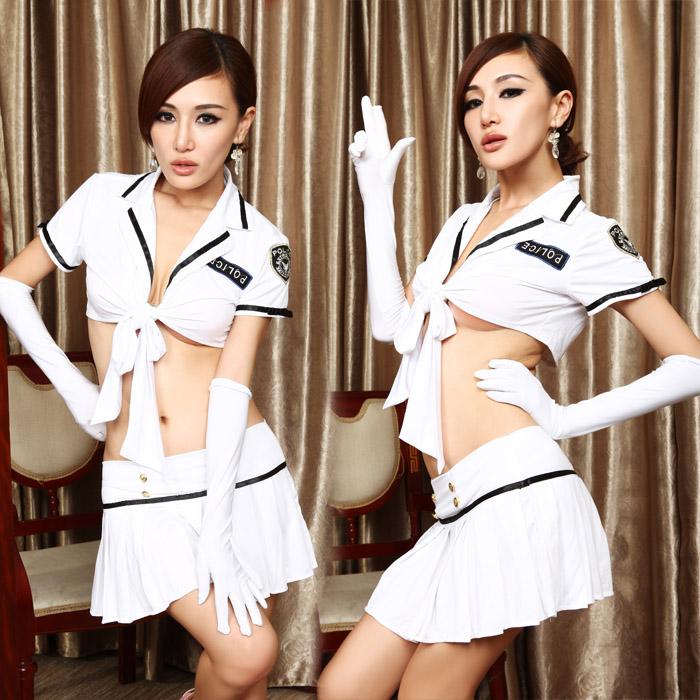 性感马甲露乳情趣内衣 海军水手女士裹胸套装 女警职业装制服诱惑