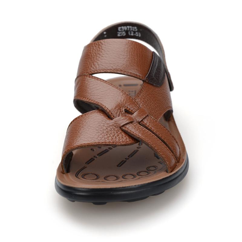 Сандали FGN c397315 2013 Открытый носок Пряжка Кожа быка Лето Пляжная обувь