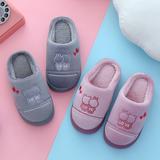 一家三口亲子情侣棉拖鞋冬季保暖居家男女儿童室内小孩毛拖鞋潮